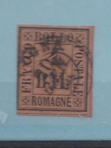 Italian States (Romagna), 1, 1/2 BAL Single,**Used**