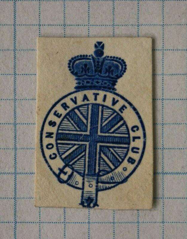 Conservative club crown official postal envelope embossed seal emblem DM