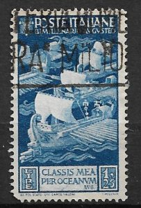 1937 Italy 384 Maritime Glory of Rome 1.25L used.