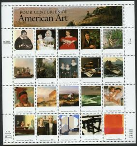 US SCOTT# 3236 AMERICAN ART COMPLETE SHEET OF 20 STAMPS MNH AS SHOWN