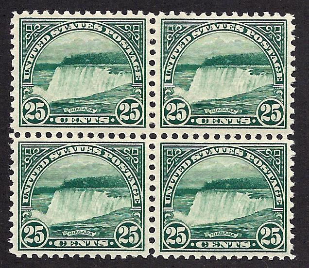 568 Mint,OG,NH... Block of 4... SCV $130.00