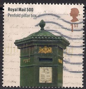 GB 2016 QE2 1st Class Royal Mail 500 used stamp SG 3797 ( E1423 )