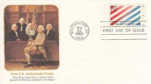 1982, 1st US-Netherlands Treaty, Fleetwood, FDC (D13885)