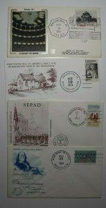 SEPAD Lot 3 Philadelphia PA Philatelic Expo Cachet Cover 1981 1973 1961 1963