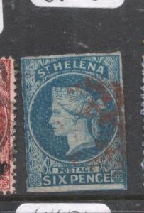 St Helena SG 1 Red Cancel VFU (1dmc)