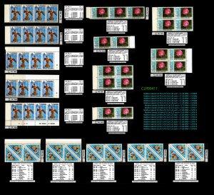 Maldive Islands CLEARANCE: Strips & Blocks 59 total  ~ CLR90411