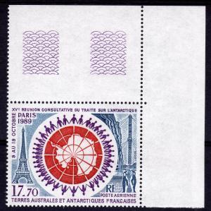 FSAT 1989 ANTARCTIC PENGUINS set 1 value Perforated Mint (NH)