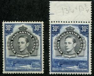 Kenya, Uganda & Tanganyika - KUT SC# 76 76a  SG# 141 141b MH/MNH see note