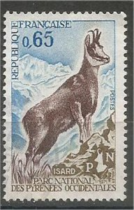 FRANCE, 1971 used 65c, National Park Scott 1302