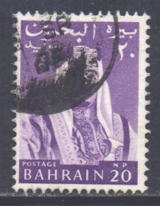 Bahrain Scott 132 - SG130, 1964 Sheik 20np used