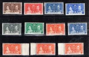 UK STAMP 1937 Coronation ISSUE COLLECTION LOT MNH/OG STAMP COLLECTION LOT #S3