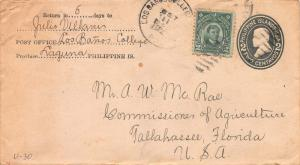 Philippines, 2c Rizal used on U30 Entire, Sent from Laguna, P.I. to Florida