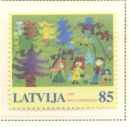 Latvia Sc 651 2006 Europa stamp mint NH