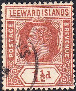 Leeward Islands #66a Used