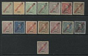 Angola 1911 REPUBLICA complete set mint o.g. hinged