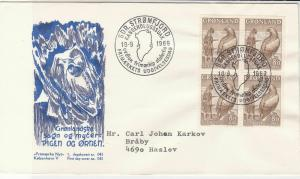 Greenland 1969 Island Cancels Person with Bird Picture +Stamps FDC Cover Rf29529