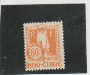 Indo-China  Scott#  J14  MH  (1908 Postage Due)
