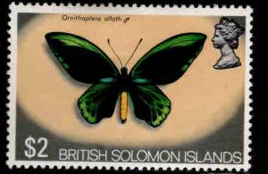 British Solomon Islands Scott 246 MH* butterfly stamp
