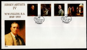 Jersey 316-319 Paintings U/A FDC
