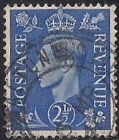 Great Britain #262 2 1/2P King George 6, used VF
