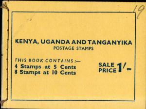 KENYA UGANDA TANZANIA 1-103a, 2-104a MNH COMP BOOKLET SCV $28.00 BIN $15.00