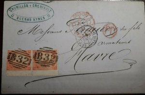 O) 1870 BRITISH OFFICE B 32- BUENOS AYRES - DRUMILLONY CRENIAULT, BUENOS AIRES
