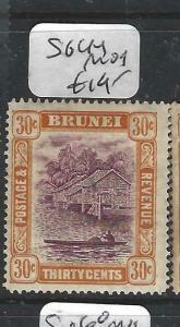 BRUNEI (P0205B)  RIVER SCENE  30C  SG 44   MOG