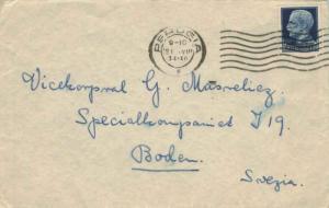 Italy 1.25L Emmanuel III 1934 Perugia to Boden, Sweden.