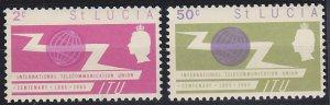 Saint Lucia 197-198 MNH (1965)