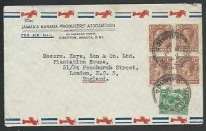 JAMAICA 1938 GV 6½d rate airmail cover to UK...............................61032