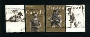 Canada #1608-09,1611-12   -2    used VF 1996  PD