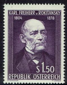 AUSTRIA 1954 150TH BIRTH ANNIVERSARY 1S50 MNH **