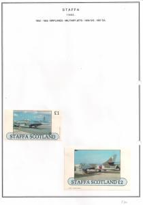 SCOTLAND - STAFFA - 1982 - Military Jets #2 - Souv, D/L Sheets -MLH