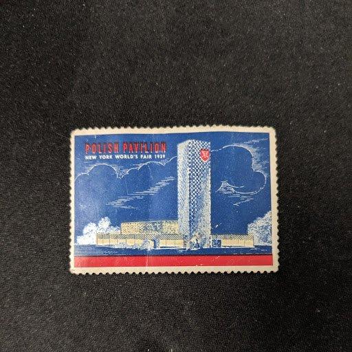 1939 New York World's Fair cinderella, VF, CV $6