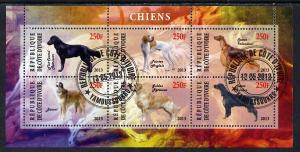IVORY COAST COTE D'IVOIRE SHEET USED DOGS