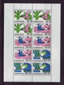 Netherlands Sc B441a 1968 Fairy Tales stamp sheet NH