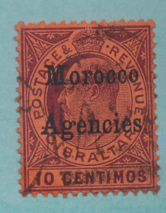 Great Britain, Offices In Morocco Stamp Scott #21, Used - Free U.S. Shipping,...