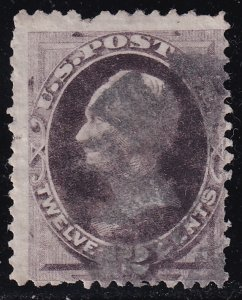 US STAMP #151 1870-71 12¢ Clay National Bank Note Printing used stamp