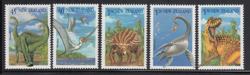 New Zealand 1993 MNH Scott #1180-#1184 Dinosaurs