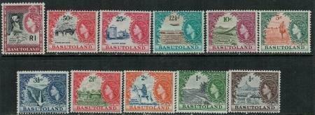 Basutoland 1961-1963 SC 72-82 Mint/MNH SCV$ 117.00 Set