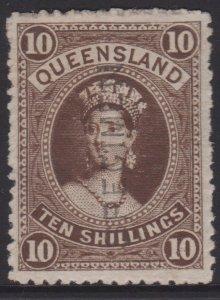 Queensland Sc#77 Full Gum Hinged Specimen
