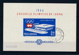 [46668] Romania 1964 Olympic games Innsbruck Used Sheet