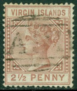 EDW1949SELL : VIRGIN ISLANDS 1880 Sc #11 Very Fine, Used. Choice stamp. Cat $130