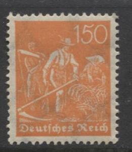 GERMANY. -Scott 175- Definitives -1921- MH - Wmk 126 - Single 150m Stamp