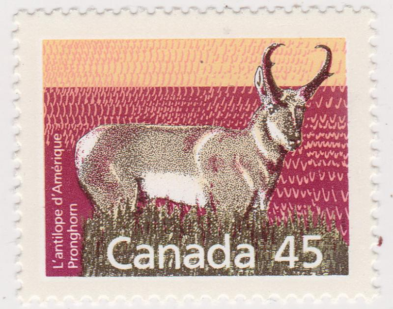 Canada - #1172d 45c Pronghorn Perf 13.1 VF-NH