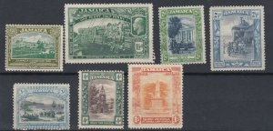 JAMAICA  1921 - 29    S G 94 - 102   VARIOUS   VALUES  TO 1/-   MH  CAT £28