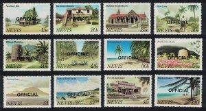 Nevis Mill Church Museum Plantations 12v OFFICIAL 1981 MNH SG#O11-O22