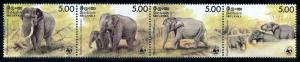 [66335] Sri Lanka 1986 WWF Indian Elephant High Cat. Value MNH