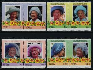 Tuvalu - Nanumea 41-4 MNH Queen Mother 85th Birthday, Flowers