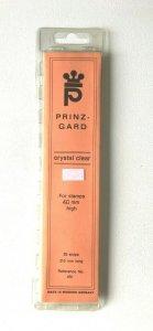 25pcs PRINZ Gard Stamp Strip Mounts Pre Cut Strips - Crystal Clear (40 x 210mm)